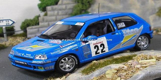 Rally Tour de Corse 1994 Renault Clio Williams Jordan/Boyere 1/43
