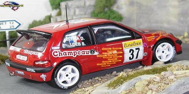 Rally de Monte-Carlo 2001 Citroen Saxo Kit Car Loeb/Elena 1/43