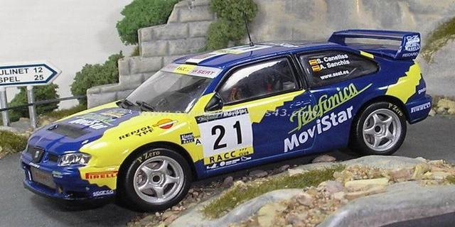 Rally Catalunya 2001 Seat Cordoba WRC Cañellas, Jr./Sanchis 1/43