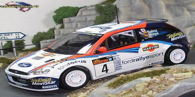 Rally Argentina 2002 Ford Focus WRC Sainz/Moya 1/43