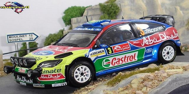 Rally Japon 2008 Ford Focus WRC Hirvonen/Lehtinen 1/43